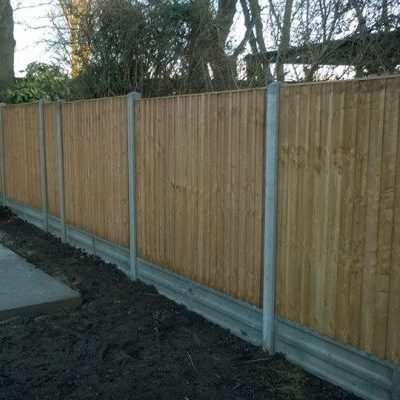 Consolidated Drives Garden Fencing in Somerset project in progress