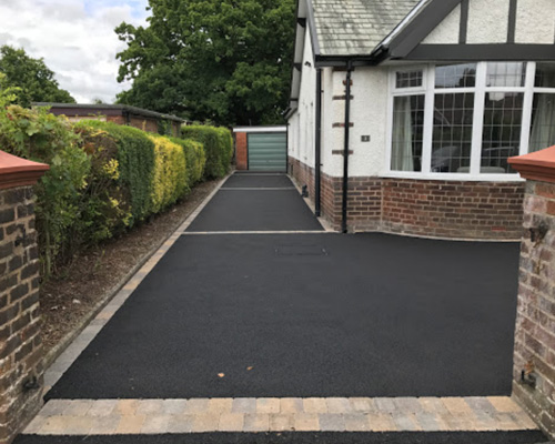 Project completed by Consolidated Drives, specialists in tarmac driveways in Somerset